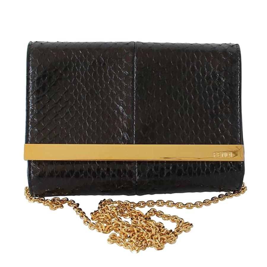 Fendi Python Mini Rush Bag