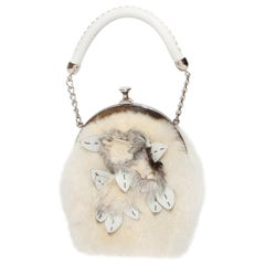 Fendi Rabbit Fur Frame Handbag
