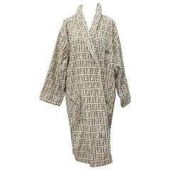 Fendi Rare bathrobe with Iconic FF Logos