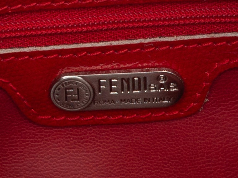 Fendi Red Canvas Shoulder Bag In Good Condition For Sale In New York, NY