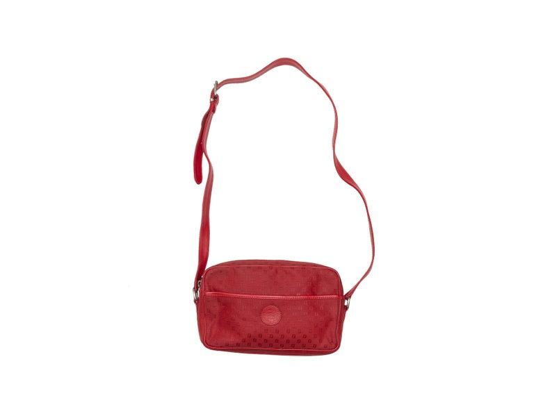 Fendi Red Canvas Shoulder Bag For Sale 1