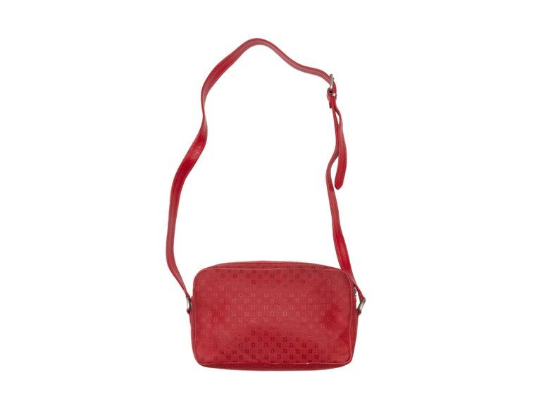 Fendi Red Canvas Shoulder Bag For Sale 2
