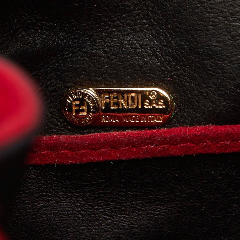 Fendi Red Suede Backpack For Sale 2
