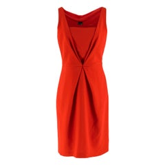 Fendi Red V-Neck Mini Dress IT 44