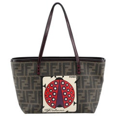 Fendi Roll Tote Printed Zucca Coated Canvas Small