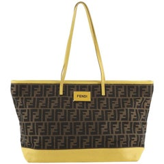 Fendi Roll Tote Zucca Canvas and Leather Large