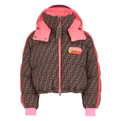 Fendi Roma Amor Reversible Printed Quilted Shell Down Bomber Jacket