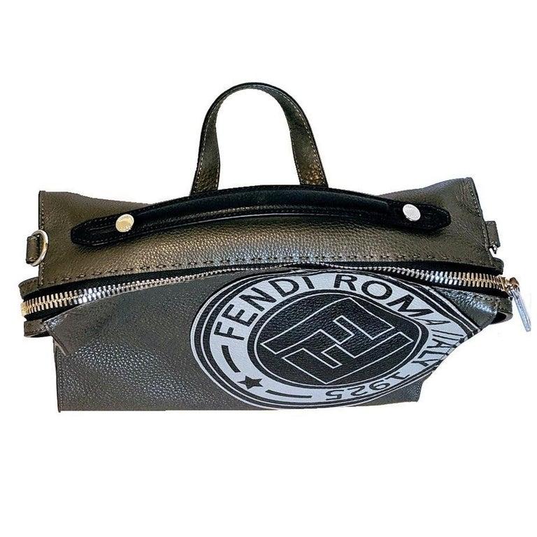 Women's or Men's Fendi Roma Men's Logo Stamp 2-way Messenger Bag For Sale