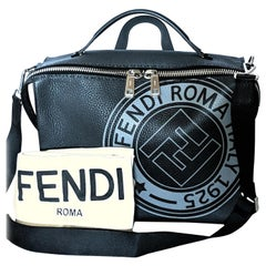 Fendi Roma Men's Logo Stamp 2-way Messenger Bag