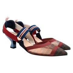 Fendi Roma Multicolour Technical-mesh Colibri Court Shoes - New Season IT40