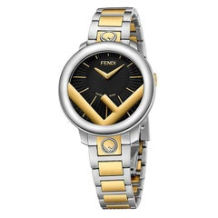 Fendi Run Away Two-Tone Black Dial Watch F711121000