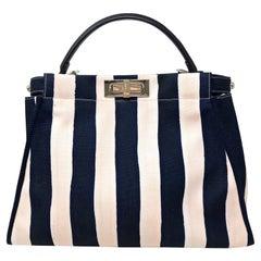 Fendi Sac Peekaboo stripes, Blue Pink.
