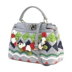 FENDI Satchel PEEKABOO Embroidered handbag