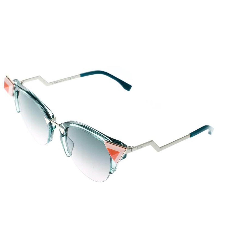 0357a31bd1699 Fendi Sea Green   Bicolor Gradient FF 0041 N S Cat Eye Sunglasses For Sale  at 1stdibs