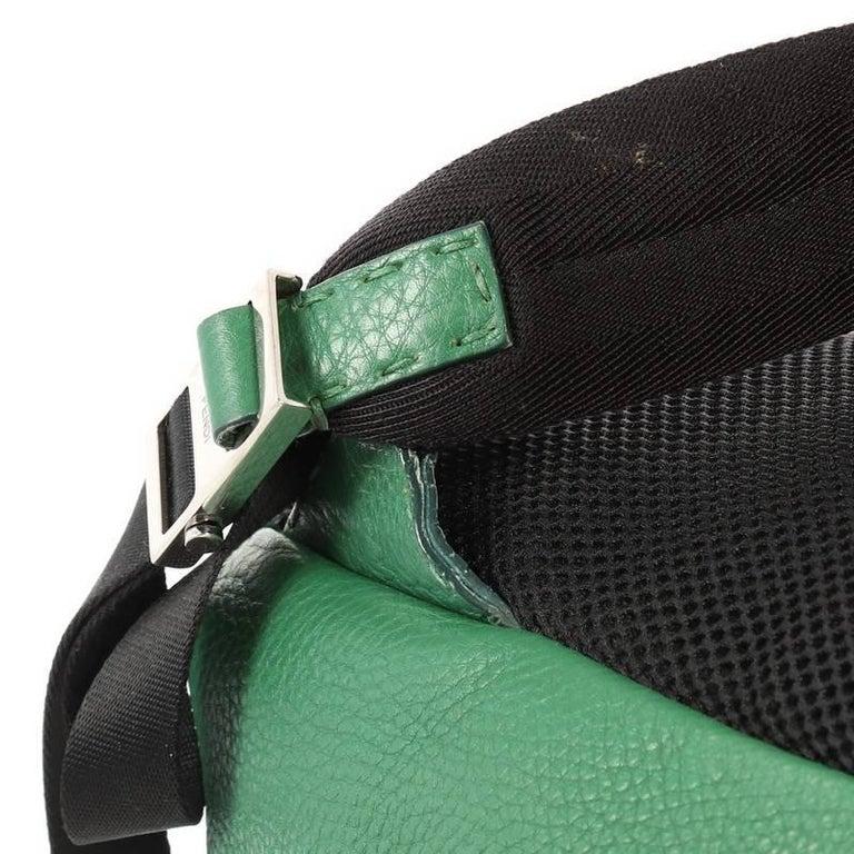 Fendi Selleria Backpack Leather with Crocodile Embossed Tail Medium For Sale 4