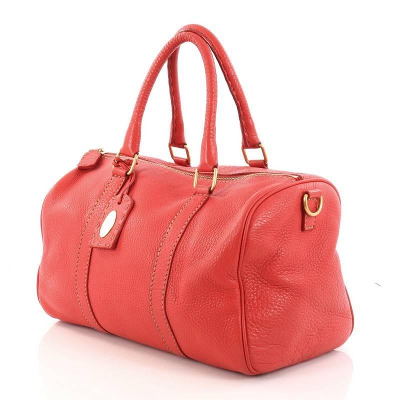 Fendi Selleria Convertible Boston Bag Leather Small FuslxbEKs