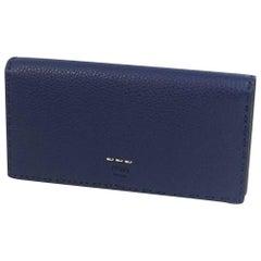 FENDI Selleria Folded long wallet unisex long wallet 7M0186 O72 F03IB Navy x blu