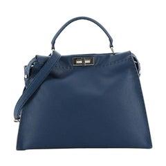 Fendi Selleria Peekaboo Bag Grainy Leather Large