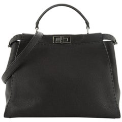 Fendi Selleria Peekaboo Bag Grainy Leather Large