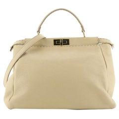 Fendi Selleria Peekaboo Bag Leather with Beaded Interior Large