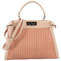 Fendi Selleria Peekaboo Bag Woven Leather Regular