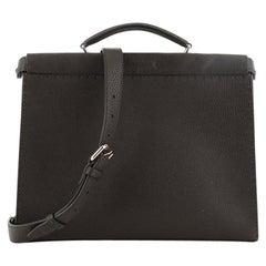 Fendi Selleria Peekaboo Fit Bag Leather with Printed Interior Regular