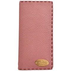 FENDI Selleria Pink Grained Leather Notebook