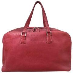 Fendi Selleria Red leather handbag