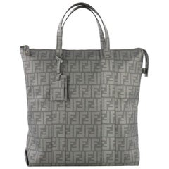 Fendi Shopping Tote Zucca Coated Canvas Tall