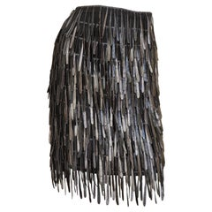 Fendi Silk Fringe Skirt