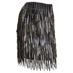 Fendi Silk Fringe Skirt