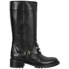 Fendi Spike Leather Biker Boots