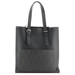 Fendi St. Zucca Slim Tote Leather with Embossed Zucca Detail