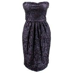 Fendi Strapless Sequined Dress - Size US 6