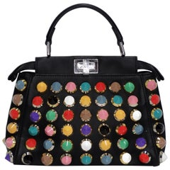 Fendi Studded Mini Peek-a-boo Bag