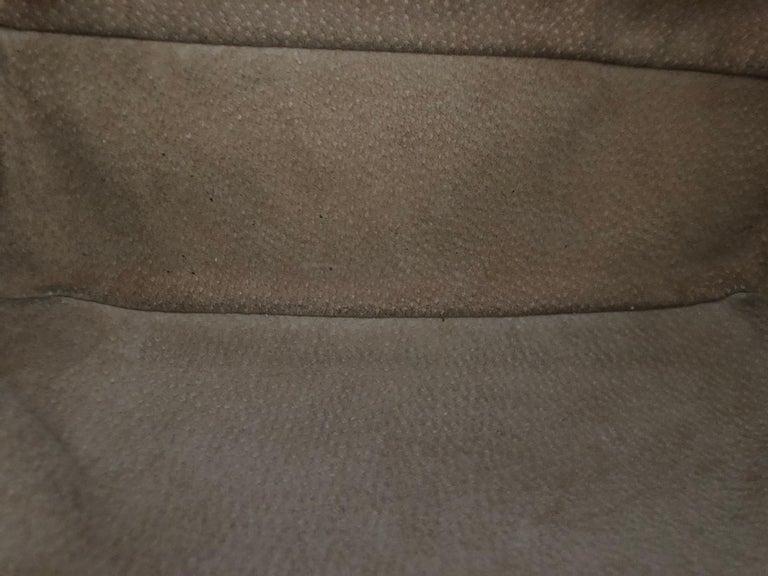 Fendi Tan Grain Leather Selleria Wide Top Stitch Handbag For Sale 2