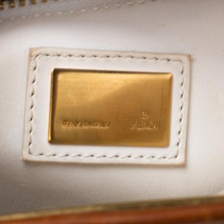 Fendi Tan Leather Medium Peekaboo Top Handle Bag For Sale 2