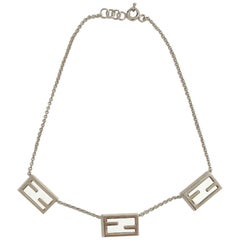 FENDI 'The Fendista' Cuff Bracelet and Necklace set