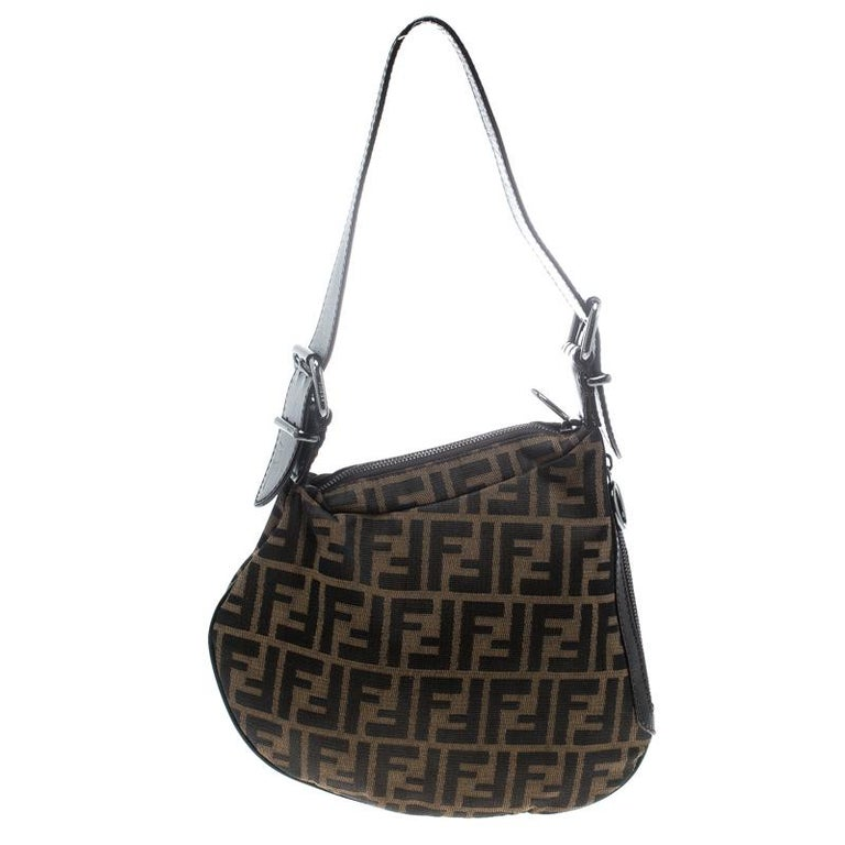 6f278e8262e0 Fendi Tobacco Zucca Canvas and Leather Oyster Hobo For Sale. Carry a  creation of wonder in your arms by choosing this Fendi piece which has been