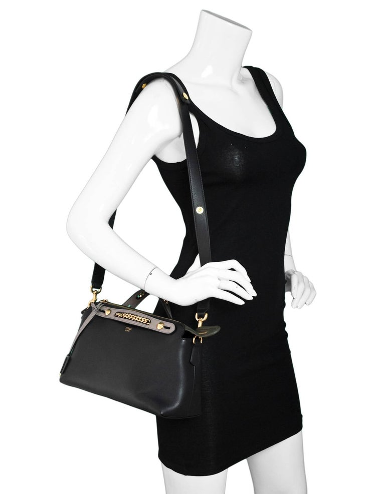 7a0e80941b6f Fendi Tri-Color Medium By The Way Boston Bag Features chain-link inset top
