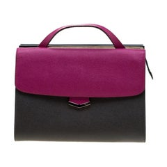 Fendi Tri Color Textured Leather Small Demi Jour Tote