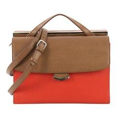 Fendi Tricolor Demi Jour Satchel Leather