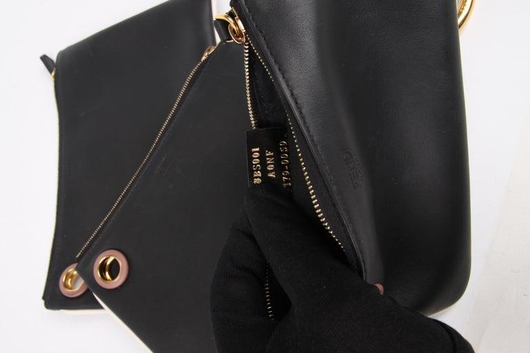 Women's or Men's Fendi Triplette Clutch - black For Sale