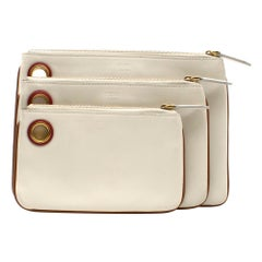 Fendi Triplette Wallet Set In White