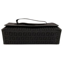 Fendi Vintage Black Monogram Canvas Cosmetic Case