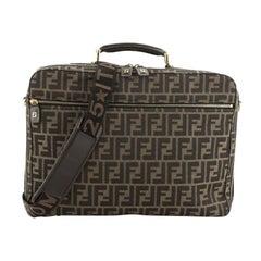 Fendi Vintage Logo Briefcase Zucca Canvas Medium