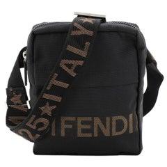 Fendi Vintage Logo Messenger Bag Nylon Small