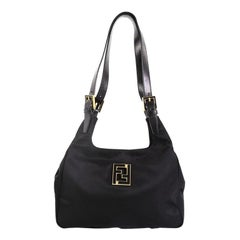 Fendi Vintage Logo Tote Nylon Medium