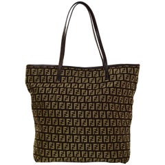 Fendi Vintage Mini Zucchino Monogram Brown/Beige Tote Bag