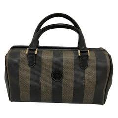 FENDI Vintage Pequin Convertible Boston Bag w/COA